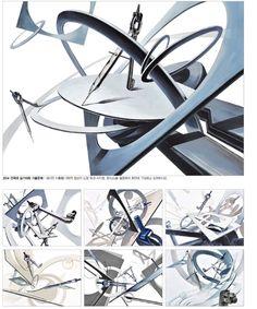ㄱ Wave Design, Surface Design, Design Art, Architecture Sketchbook, Basic Drawing, Sculpture Projects, Composition Design, Korean Art, Marker Art