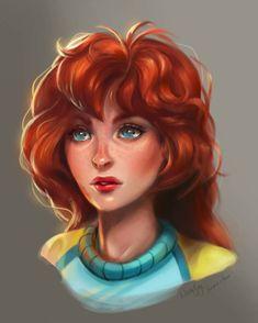 Bloom by NatalieSaly on DeviantArt Les Winx, Six Girl, Drawing Superheroes, Bloom Winx Club, Tomboy Look, Old Cartoons, Anime, Kawaii, Witch