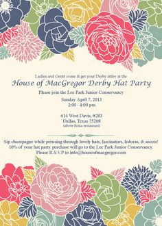 Garden Party Invitation from The Glamorous Hostess Could add a pocket style to a simple invite like this Garden Party Invitations, Shower Invitations, Lawn Party, Tea Party, Business Invitation, Free Cards, Derby Party, Spring Theme, Retirement Parties
