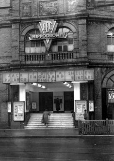 The ABC Hippodrome, Blackpool, in 1956 with the name of The Empire still on view above