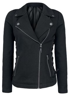 Punk wind oblique zipper stitching coat