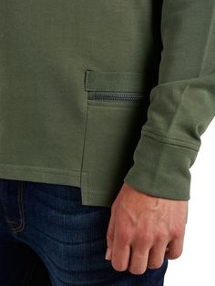 DETAILED SWEATSHIRT, Dusty Olive, large Running Wear, Sport Fashion, Mens Fashion, Capsule Wardrobe, Army Shirts, Mens Fleece, Apparel Design, Mens Trends, Classic Outfits