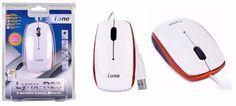 iOne Lynx R23 3-Button USB Laser Scroll Mouse (White/Orange)--Brand NEW #iOneLynx