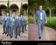 A groom strolling with his groomsmen! TPC Sawgrass wedding!