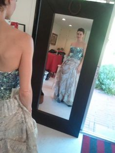 in one of Traver Rains' gowns... #PrincessForADay ~ Traci Dinwiddie.