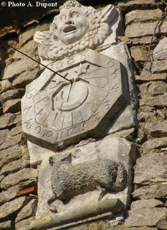 Cadran solaire - Chateauneuf-les-Dijon - région Bourgogne.France.