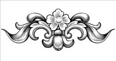 Vintage baroque flower vectors