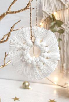Scandinavian Christmas Trees, Bohemian Christmas, Natural Christmas, Simple Christmas, Christmas Crafts, Etsy Christmas, Christmas Advent Wreath, Handmade Christmas Decorations, Holiday Wreaths