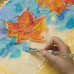 Autumn craft...Family Fun...Glue-Batik Banner - Step 3