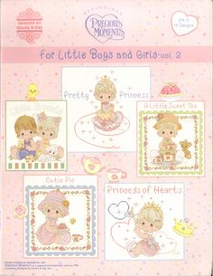 For Little Boys & Girls Volume 2 - Includes 14 Precious Moments cross stitch designs.