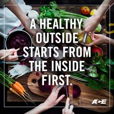 A healthy outside starts from the inside first