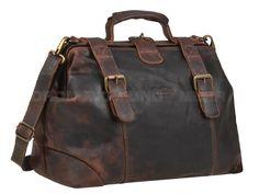 Leather Camera Bag Photo Case Doctors Bag Retro Style Kalahari KAAMA LS-34