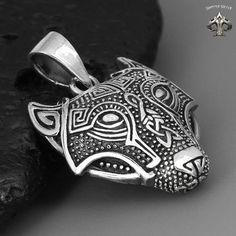 Solid 925 Sterling Silver Boru Wolf Men/'s Ring
