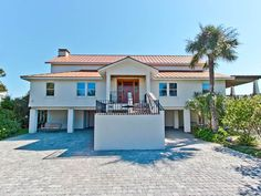 Custom-built Directly Oceanfront Large Home. Vacation Rentals By Owner, Tybee Island, Custom Built Homes, Large Homes, Vacation Villas, Condo, Mansions, House Styles, Beach Houses