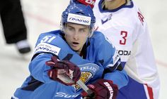 Finland's Valtteri Filppula (L) vies with France's Vincent Bachet during the Group H game France vs Finland in the 2012 IIHF Ice Hockey World Championships in Helsinki, Finland, on May Hockey World, Hockey Players, World Championship, Ice Hockey, Helsinki, Finland, Sweden, France Vs, Group