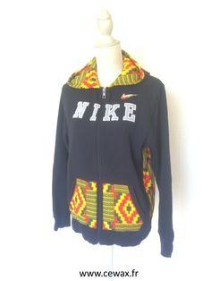 (2) Upcycling - Sweat tissu africain wax - la fripe c'est comme le rhum, c' - Afrikrea