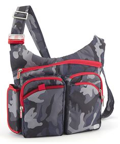 Lug Navy Camo Shortstop Excursion Crossbody Bag by Lug #zulily #zulilyfinds