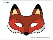Colored fox mask