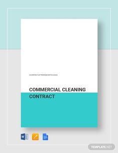 Cleaning Contract Template - Word (DOC) | Google Docs | Apple (MAC) Pages | Template.net Cleaning Contracts, Business Letter, Cleaning Business, Google Docs, Word Doc, Letter Size, Brochure Template, Getting Organized, Clean House