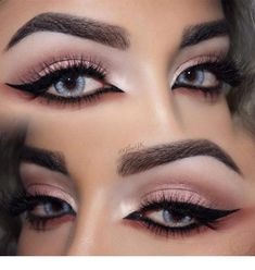 Have you always wanted to achieve that beautiful cat eye look with your eyeliner? If you're having a hard time, there are some easy cat eyes makeup tips you can try out. These tips will help you achieve the look every time in a matter of minutes. Sexy Eye Makeup, Eye Makeup Art, Cat Makeup, Blue Eye Makeup, Contour Makeup, Eye Makeup Tips, Smokey Eye Makeup, Gorgeous Makeup, Beauty Makeup