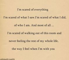 there's always that one person we're terrified to live without