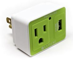 Compact Surge Protector with USB