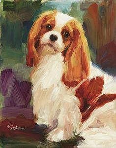 Cavalier in Art - Chase  by Lindsey Bittner Graham