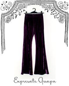 Pantalon Chifon T.36 Uva