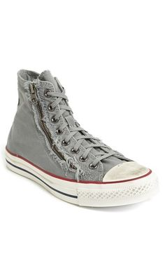 Converse Chuck Taylor® All Star® Distressed Double Zip High Top Sneaker (Men) | Nordstrom