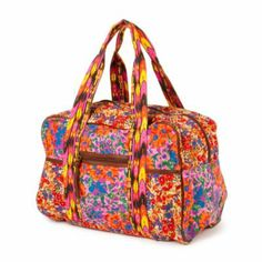 Mixed Floral Prints Canvas Weekender Bag