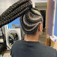 21 creative ways to make black sleek ponytail hairstyles in 29 best black braided hairstyles ponytails 2020 that 25 classy … Braided Cornrow Hairstyles, Feed In Braids Hairstyles, Hair Ponytail Styles, Braids Hairstyles Pictures, Black Girl Braided Hairstyles, Sleek Ponytail, Cornrows, Formal Ponytail, Hairstyle Short