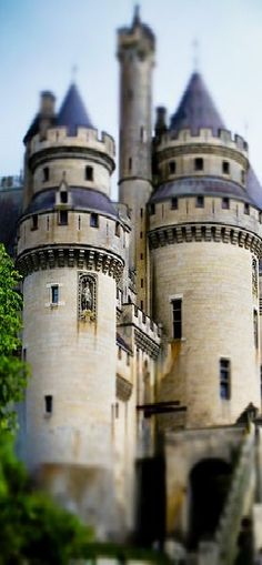 Château Pierrefonds ~ is a 12th century chateau situated in the Oise Department of France, northeast of Paris.