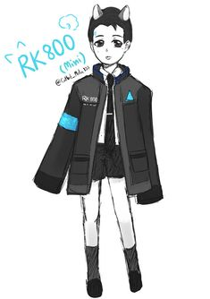 [FanArt] Detroit : Become Human - Mini Connor by CatbitOz