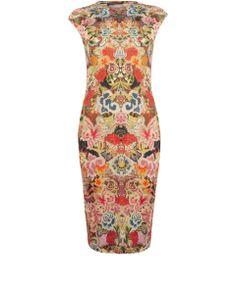Alexander McQueen Multicoloured Floral Merino Wool Dress