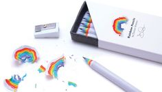 Rainbow pencils - http://www.differentdesign.it/2013/09/06/rainbow-pencils/