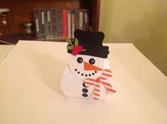 Curvy Keepsake Box Snowman