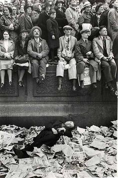Trafalgar Square on the Day of the Coronation of George VI, 1937 by Henri Cartier-Bresson