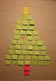 Arbol de Navidad con Post-it y deseos (diy)