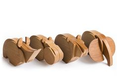 Mastodonts is a family of toys made of wood and magnet - Wodibow
