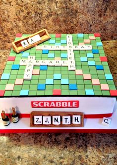 Scrabble Themed Cake