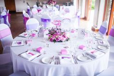 A super sweet pink and purple wedding for Lisa and Earl © mikiphotography.info