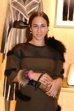 Delfina Delettrez at the the new Fendi Boutique Opening party in London