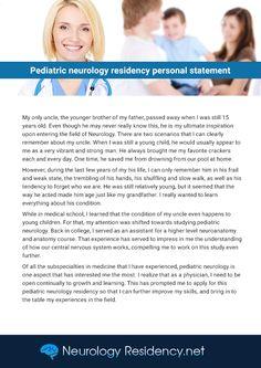 Neurology personal statement