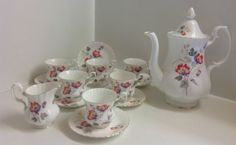 Royal-Albert-14-Piece-Coffee-Set-English-bone-china