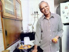 Beginning a journey with silver men who know the joy of cooking. My new column at Harmony titled 'His ladle love'. First grandfather is N.S.Sridharan, a Mysore Iyengar from Bangalore, whose mantra is 'slow cooking'. His easy smile in the photograph says it all . http://pratibhajain.org/slow-cooking-grandfather-sridharan/ — with Pratibha Jain.