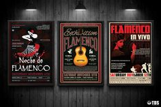3 FLYERS PSD - Flamenco Flyer Templates V.2