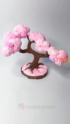 Cute Polymer Clay, Cute Clay, Polymer Clay Crafts, Diy Clay, Fondant Flower Tutorial, Paper Crafts, Diy Crafts, Clay Projects, Clay Creations