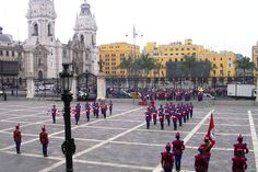 Changing of the Guard at the Palacio de Gobierno (Presidential Palace) in Plaza…