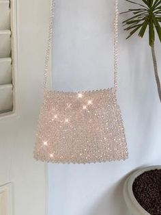 Our Iridescent Crossbody Beaded Bag is a real dazzler! Be sure to Note your color choice when placing your order (Refer to the color listing picture) Shipping and Handling: Weeks Summer Handbags, Straw Handbags, Quilted Handbags, Purses And Handbags, Quilted Bag, Beaded Purses, Beaded Bags, Custom Clutches, Popular Handbags