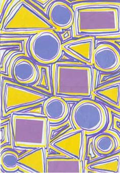 Art education lesson project 5 Love love love this! This helps my students in learning to cut out shapes as well as actually tracing them